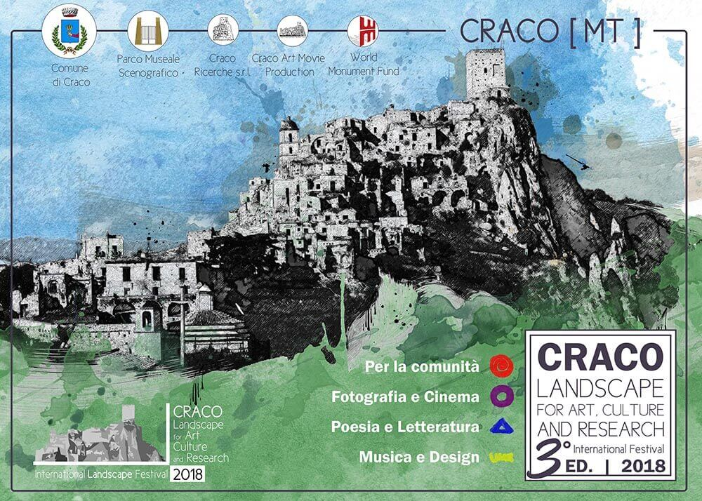 Craco landscape for art culture and research international festival 2018